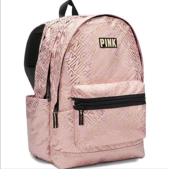 Pink Victoria S Secret Bags Nwot Rose Gold Pink Campus